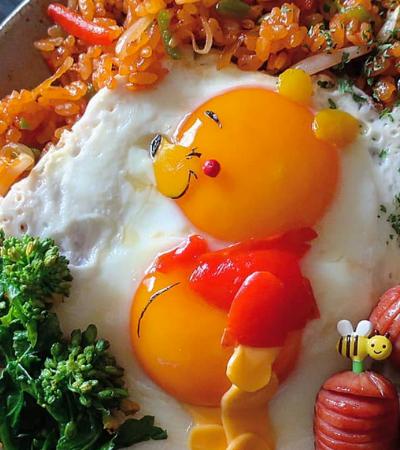 Mãe japonesa transforma ovos fritos em obras de arte