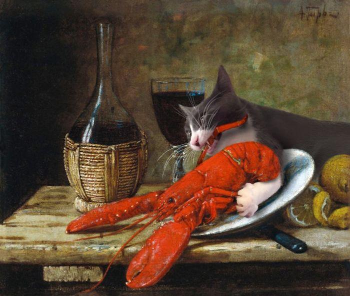 quadros famosos gatos 1