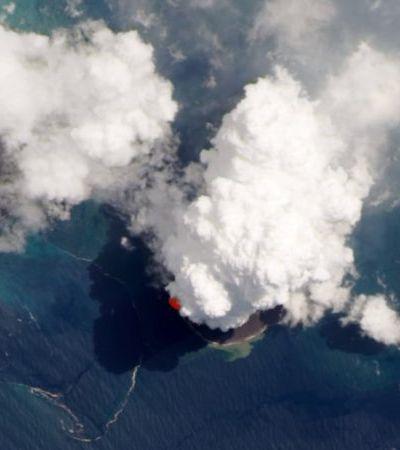 Krakatoa: imagens de satélite mostram grandeza de erupção