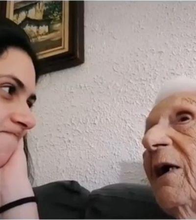 Esta senhora com alzheimer descobrindo sua idade é apenas maravilhosa