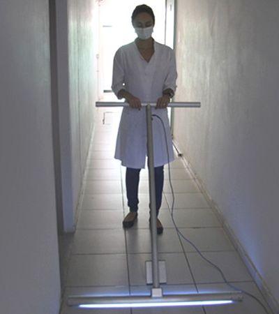 USP desenvolve rodo com radiação que mata vírus no chão de hospitais
