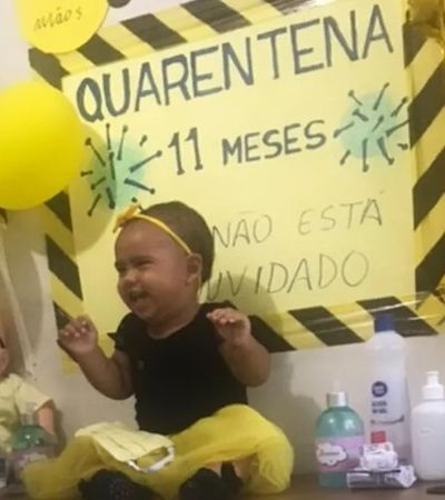 Aniversário de bebê com tema quarentena é a coisa mais fofa para hoje