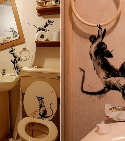 Banksy trabalhando dentro de casa era tudo que você queria stalkear nessa quarentena