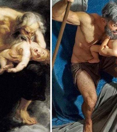 Obras de arte ganham suas melhores versões caseiras durante a quarentena