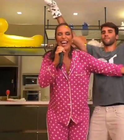 Ivete Sangalo de pijama faz live de 3 horas enquanto marido escolhe feijão