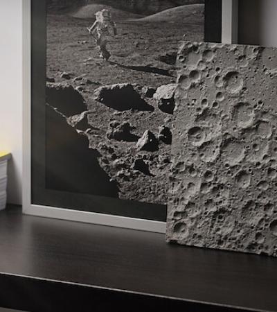 A incrível superfície realista que imita a Lua com informações da NASA