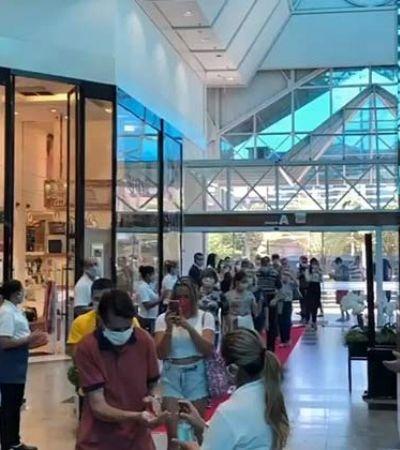 Vídeo: shopping reabre no meio de pandemia com show e aglomeração; Justiça reage