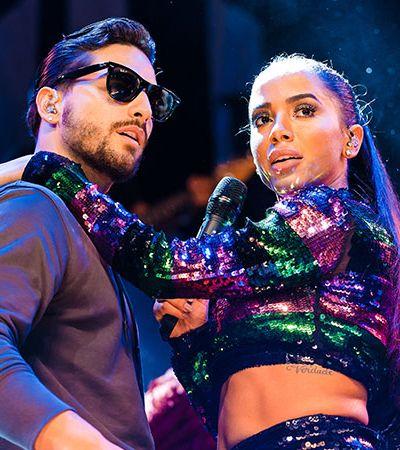 Maluma bom de cama: Anitta troca revelações por meta de doações atingida em live