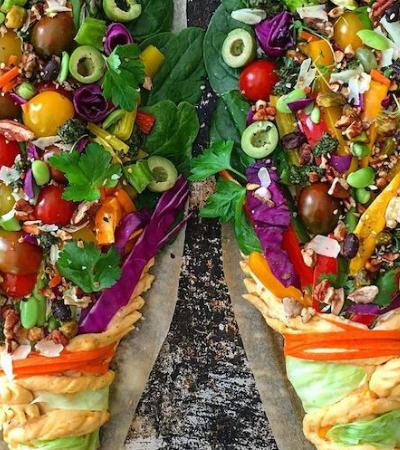 Padeira cria maravilhosos buquês comestíveis com resto de vegetais e pão