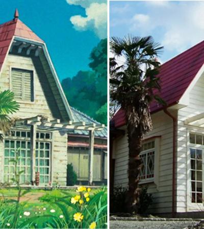 Uma casa idêntica a do filme 'Meu amigo Totoro' com direito a móveis e objetos
