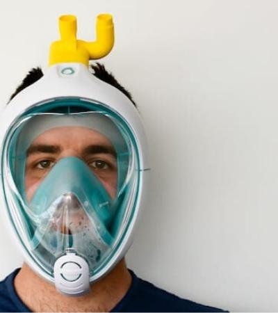 Engenheiros transformam máscaras de mergulho em equipamentos que salvam vidas
