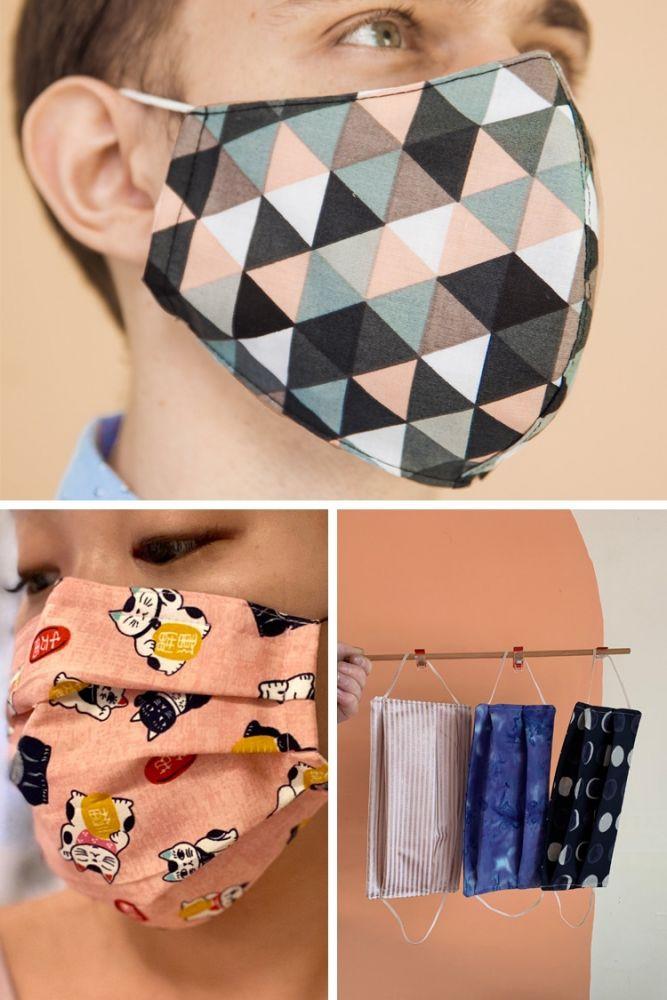 máscaras de tecido estampadas 1