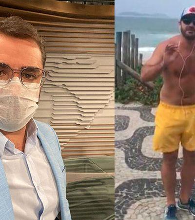 Apresentador da Globonews é hostilizado ao correr no calçadão em meio à coronavírus