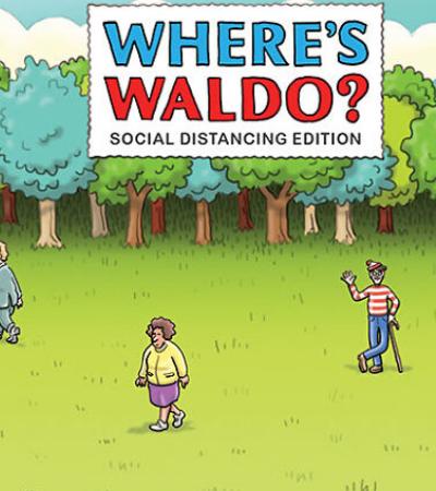 Cartunista recria 'Onde Está o Wally?' em tempos de isolamento social