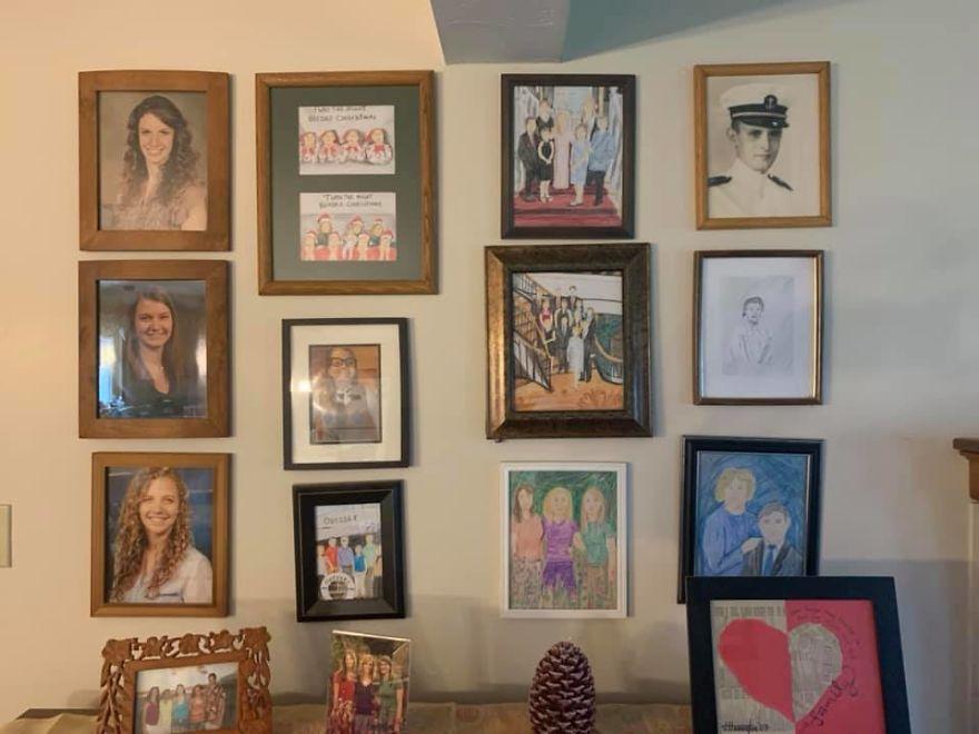 retratos de família desenhos quarentena 2