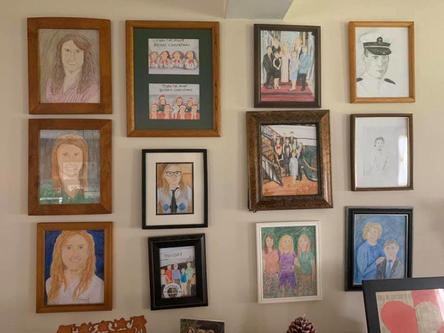 retratos de família desenhos quarentena 3