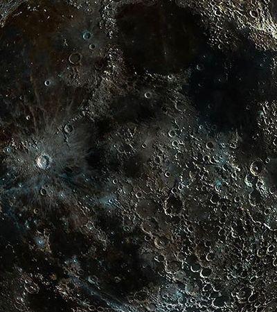 Ele tirou a foto mais detalhada possível das crateras da Lua