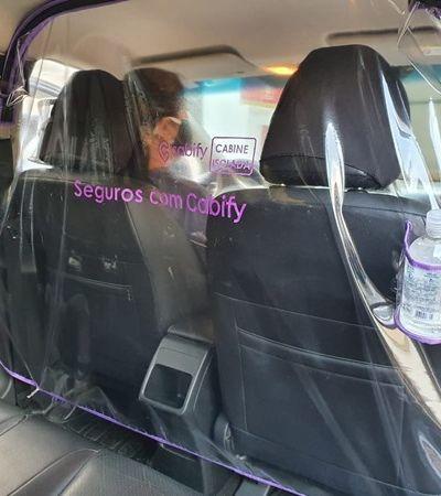 Cabify distribui cortina de isolamento entre motorista e passageiro contra coronavírus