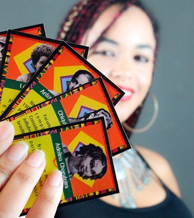 Professora cria 'Super Trunfo' com heróis e heroínas negras