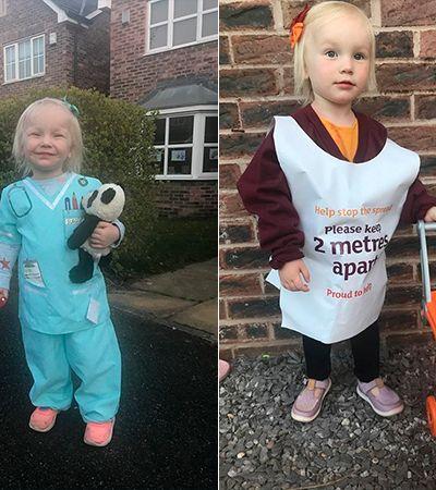 Garota de 2 anos se veste de 'profissional essencial do dia' em ensaio inspirador
