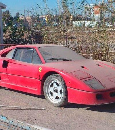 A história da Ferrari F40 perdida do filho de Saddam achada por um caçador