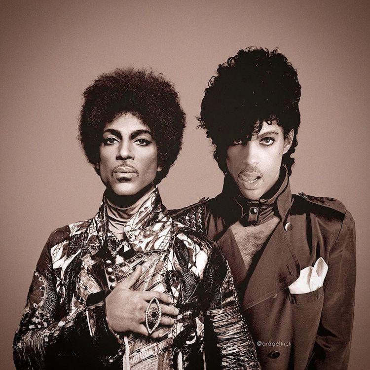 Antes e depois de Prince