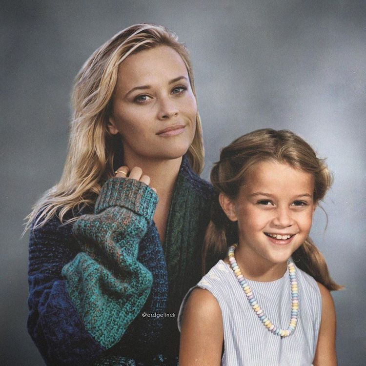 Antes e depois de Reese-Witherspoon