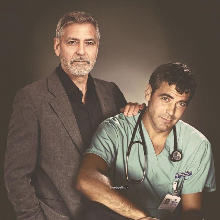 Antes e depois de George Clooney
