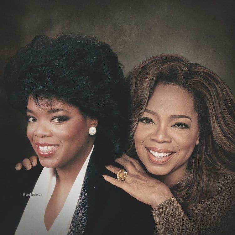 Antes e depois de Oprah