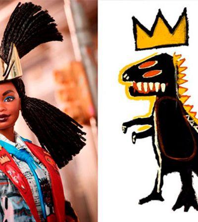 Barbie homenageia arte de Basquiat em modelo estiloso e com tranças