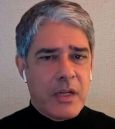 William Bonner diz no 'Conversa com Bial' que evita lugares públicos há 2 anos