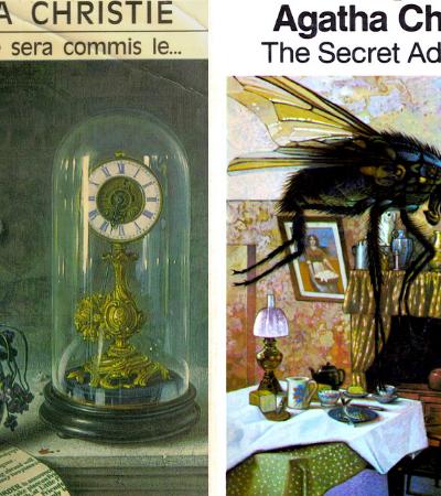 As incríveis capas dos romances de Agatha Christie feitas pelo artista Tom Adams