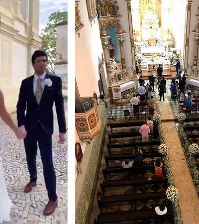 Casamento em igreja de luxo no meio da quarentena termina com gritos e protestos na Bahia