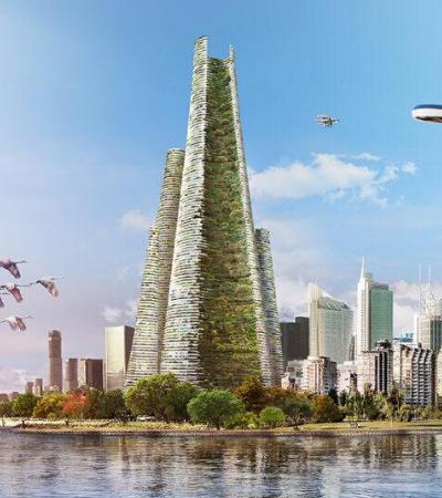 A cidade autossustentável do futuro seria assim segundo estes arquitetos italianos