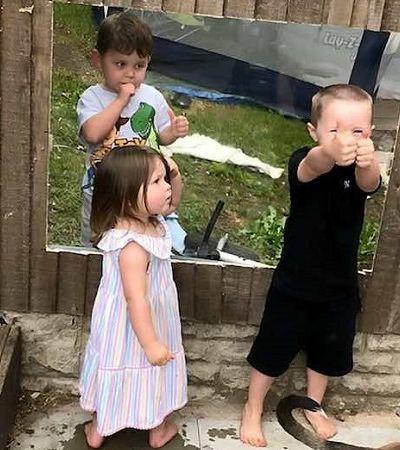 Mãe instala muro transparente para que filhos e vizinho possam voltar a brincar juntos