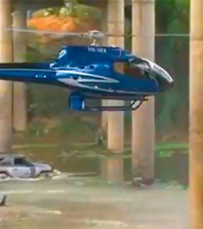 Helicóptero é proibido de voar após passar por baixo de ponte; veja vídeo