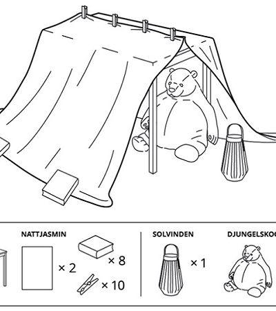 Campanha da Ikea incentiva pais a fazerem cabanas com crianças dentro de casa