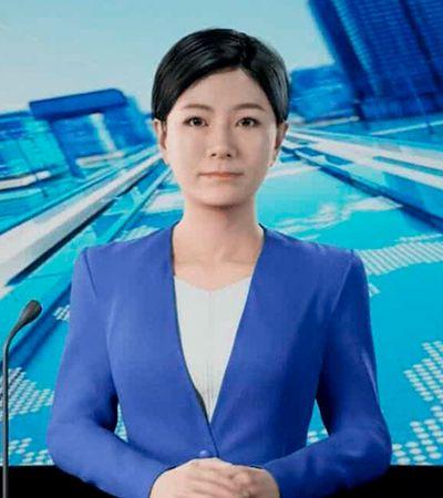 China revela 1ª apresentadora virtual desenvolvida por inteligência artificial e tecnologia 3D