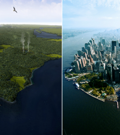 NY Times recria Manhattan antes da ocupação humana em imagens