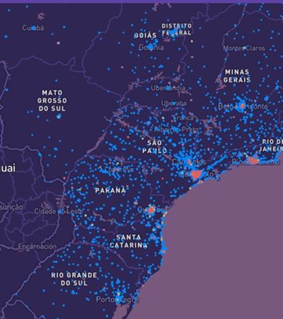 Coronavírus: mapa mostra risco de contrair covid-19 na rua da sua casa