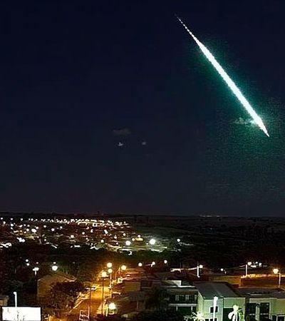 Vídeo mostra meteoro caindo em cidade do interior; velocidade impressiona