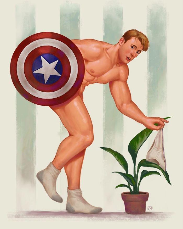 pin-ups super heróis masculinos 5