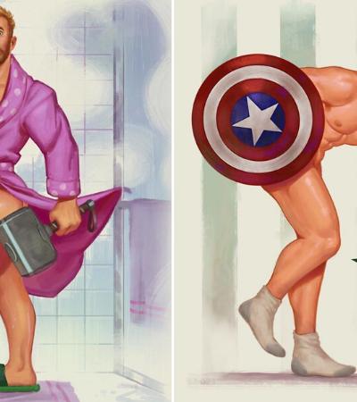 Artista transforma super heróis em pin-ups e discute sexualização da mulher