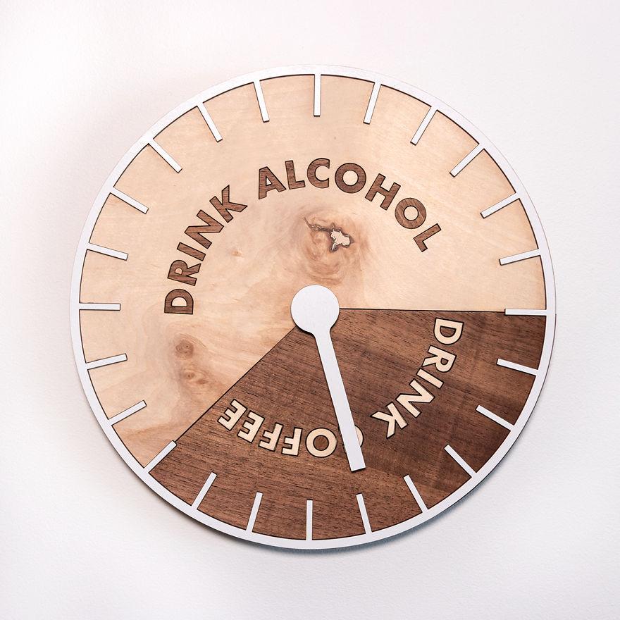 relógio alcóolico