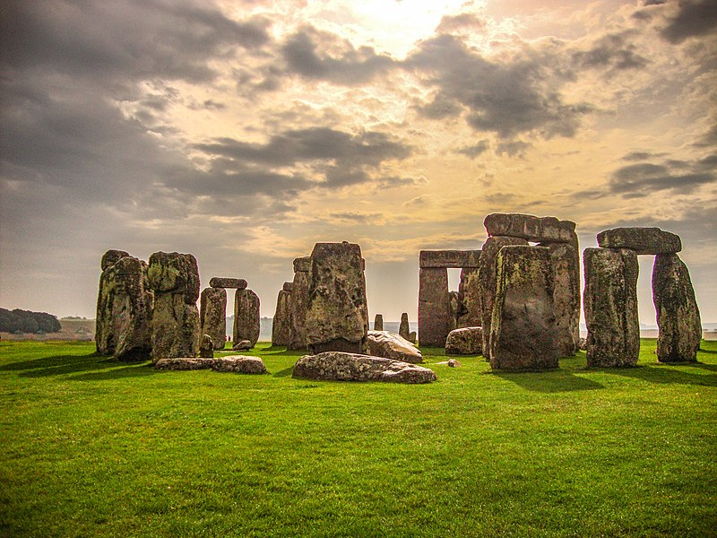 Nascer do sol em Stonehenge