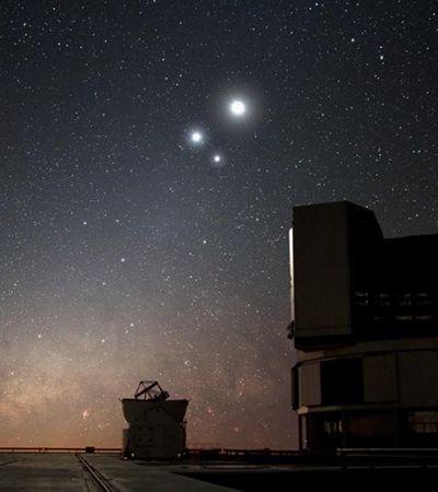 Lua, Júpiter e Saturno formam conjunção e aparecem 'próximos' no céu; veja fotos