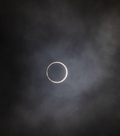 Fotos mostram como foi eclipse de anel de fogo do último domingo
