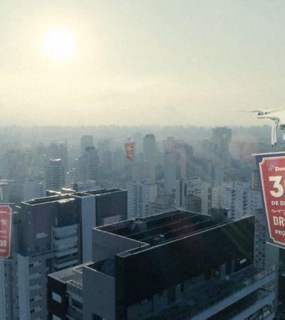 Domino's usa drones para entregar descontos de pizza em apartamentos de São Paulo