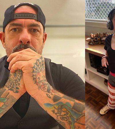 Henrique Fogaça vibra com filha, que conseguiu ficar de pé e se trata com canabidiol