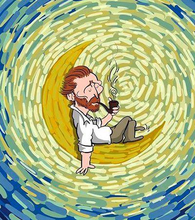 Ilustrador iraniano conta a vida de Van Gogh em lindos quadrinhos coloridos